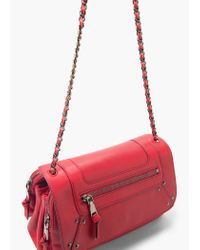 Mango - Red Stud Cross Body Bag - Lyst
