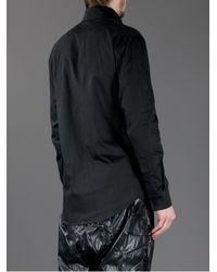 KTZ Black Embroidered Patch Shirt for men