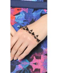 Joomi Lim - Spike Palm Cuff - Rose Gold/Black - Lyst