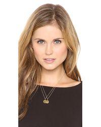 Sarah Chloe - Metallic Eva Engraved Pendant Necklace - J - Lyst