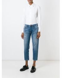 AALTO | Blue Straight Cropped Jeans | Lyst