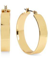 Kenneth Cole Metallic Gold-tone Wide Hoop Earrings