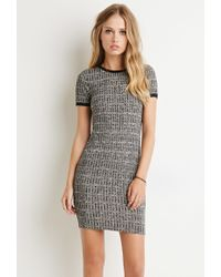 Forever 21 | Gray Ribbed Knit Marled Dress | Lyst