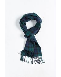 Urban Outfitters | Green Tartan Scarf for Men | Lyst