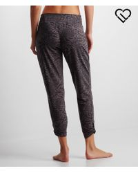Live Love Dream | Gray Lld Animal Print Soft Drape Pants | Lyst