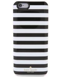 kate spade new york - Black Micro Stripe Iphone 6 Charging Case - Lyst