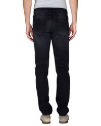 Trussardi - Black Denim Trousers for Men - Lyst