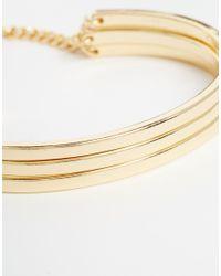 ASOS | Metallic Stack Cuff Bracelet | Lyst