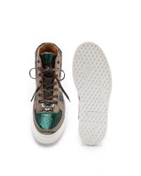 Marc Jacobs - Brown Wrinkled Leather High Top Sneakers for Men - Lyst