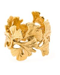 Aurelie Bidermann | Metallic Ginkgo Ring | Lyst