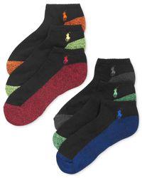 Polo Ralph Lauren - Multicolor Men's Athletic Celebrity Sport Socks 6-pack for Men - Lyst