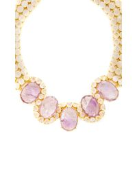 Bounkit | Purple Amethyst And Moonstone Necklace | Lyst