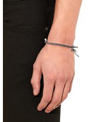 Saint Laurent - Gray Palm-tree Rope Bracelet for Men - Lyst