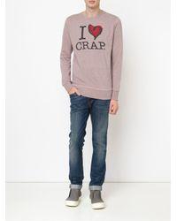 Vivienne Westwood Anglomania - Pink I Heart Crap Sweatshirt for Men - Lyst