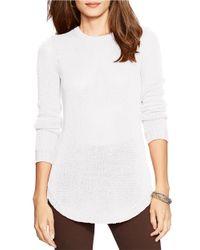 Lauren by Ralph Lauren | White Petite Crewneck Sweater | Lyst