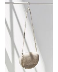 Silence + Noise Natural Structured Moon Crossbody Bag