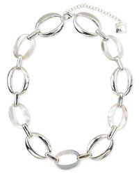 Anne Klein | Metallic Silver-tone All-around Collar Necklace | Lyst