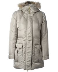 the best attitude fc6a2 7d1a3 Peuterey 'Regina' Padded Coat in Natural - Lyst