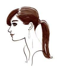 Henri Bendel   White Luxe Rose Cut Drop Earrings   Lyst