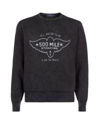 Polo Ralph Lauren - Gray Motor Club Print Sweatshirt for Men - Lyst