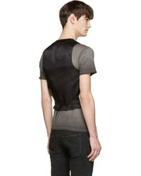 Saint Laurent - Black Wool & Silk Classic Waistcoat for Men - Lyst
