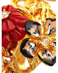 Alexander McQueen | Red Cherry Blossom Swarovski-Crystal Bracelet | Lyst