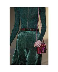 Christopher Kane Pink Mini Embellished-Leather Shoulder Bag