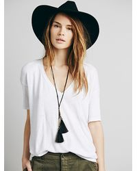 Free People | Black Neptunes Net Pendant | Lyst