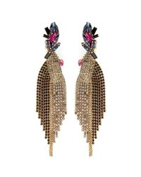 Erickson Beamon | Brown Velvet Underground' Jewel Crystal Fringe Drop Earrings | Lyst