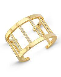 Vita Fede - Metallic 24k Gold-dipped Pandora Cuff Bracelet W/ Crystals - Lyst