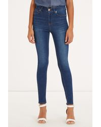 Oasis | Blue Lily High Waisted Ankle Grazer | Lyst