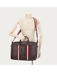 Bally Brown Terret Small Men ́s Leather Travel Bag In Black for men