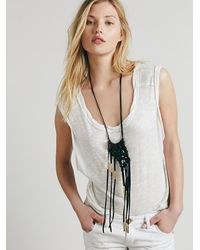 Free People - Black Sun And Glory Womens Gold Fire Macrame Necklace - Lyst