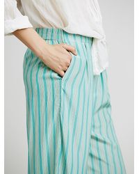 Free People | Blue Boyfriend Pant | Lyst