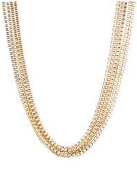 Anne Klein | Metallic Goldtone Multi-Strand Necklace | Lyst
