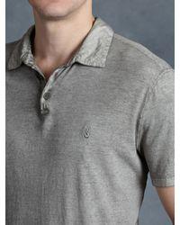 John Varvatos - Gray Soft Collar Peace Polo for Men - Lyst