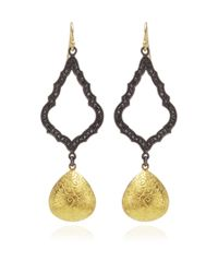Arman Sarkisyan | Yellow Black Diamond Gold Drop Earrings | Lyst