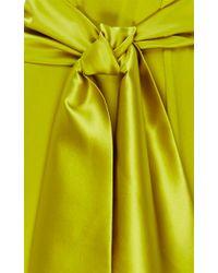 Cynthia Rowley - Yellow Crepe Back Silk Satin Jumpsuit - Lyst