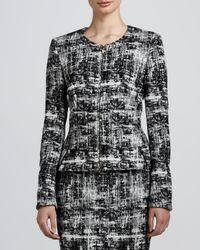 ESCADA | Scribble Tweed Jacket Blackwhite | Lyst