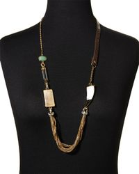 Rachel Zoe | Natural Gold-Plated Avent Necklace | Lyst