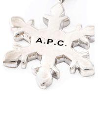 A.P.C. | Metallic Snowflake Pendant Necklace | Lyst