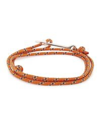 Miansai | Orange Rope Wrap Anchor Bracelet for Men | Lyst