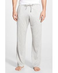Daniel Buchler - Gray Silk & Cotton Lounge Pants for Men - Lyst