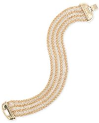Jones New York | Metallic Two-tone Multi-row Bracelet | Lyst