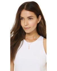 Samantha Wills Pink Horse & Hummingbirds Necklace - Rose Gold