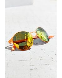 Urban Outfitters - Orange Shoreline Monochromatic Round Sunglasses - Lyst