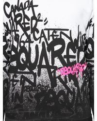 DSquared² | Black Graffiti Logo Sweater for Men | Lyst