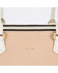 Paul Smith - Brown Women's Small Taupe And White Double-zip Tote Bag - Lyst