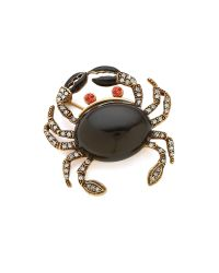Oscar de la Renta | Pave Crab Brooch - Black Diamond | Lyst