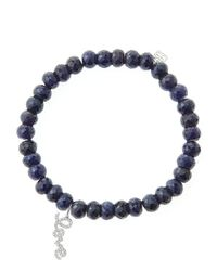 Sydney Evan | Blue 6Mm Faceted Sapphire Beaded Bracelet With 14K White Gold/Diamond Love Charm (Made To Order) | Lyst